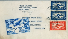 1939 PORTUGAL , HORTA - PHILADELPHIA , CORREO AÉREO , PRIMER VUELO , TRÁNSITO DE NEW YORK - Horta