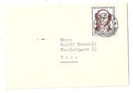 Neujahrsbrieflein  Bern  (Gotthelf)        1954 - Suisse