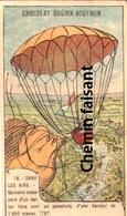 Chromo Chocolat GUERIN BOUTRON - Dans Les Airs : 17897 GARNERIN Descente En Parachute  - Scans Recto Verso - Sonstige