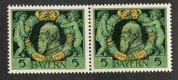 W-13782  Mi.# 92B**pair 1911 - Bayern (Baviera)