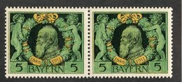 W-13783  Mi.# 92B**pair 1911 - Bayern (Baviera)