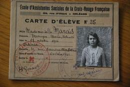 Carte D'eleve Croix Rouge Orleans Loiret - Historische Dokumente