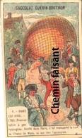 Chromo Chocolat GUERIN BOUTRON - Dans Les Airs : 1783 Premier Ballon à Hydrogène  - Scans Recto Verso - Sonstige