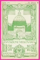 Ticket D'Entrée VATICANA ANNO SANTO ESPOSIZIONE MISSIONARIA ** Vatican - Biglietti D'ingresso