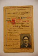Carte D'identité Musee Du Louvre Societe Des Amis Du Louvre - Documenti Storici