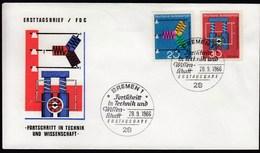Germany Bremen 1966 / Fortschritt In Technik Und Wissenschaft / FDC - Fabbriche E Imprese
