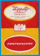 Pochette Publicitaire Pour Photos HEPPELLS Chemists LONDON Photographic Specialists ** PHOTO Photographie - Autres