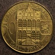 4069 Vz St. Leonardusparochie 1231-1981 – Kz Zoutleeuw 1106-1981 50 Leeuwenaar - Gemeentepenningen