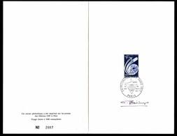 """France 1972 Marcophilie Paris Livret Illustré N°2667 Signé, 1er Jour 1er Juillet 1972 """"XXIème Congrès I.P.T.T. 1972"""" 1 € - Postmark Collection (Covers)"""