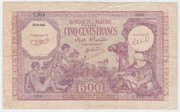 ALGERIA 500 Francs 1944 F+ Pick 95 - Algeria