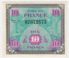 France 10 Francs 1944 XF+ CRISP Banknote Pick 116 - 1944 Flag/France