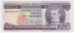 BARBADOS 20 DOLLARS 1973 VF++ Pick 34 - Barbados