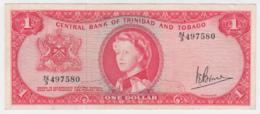 TRINIDAD & TOBAGO 1 DOLLAR 1964 VF+ Pick 26c 26 C - Trinidad & Tobago