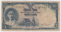 Thailand 1 Baht 1948 VG Pick 69b SIGN 28 - Thailand