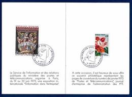 """France Marcophilie 1973 Paris 19 Juin 1973 """"l'Information Dans L'Entreprise"""" 0,30 € - Postmark Collection (Covers)"""