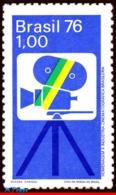 Ref. BR-1440 BRAZIL 1976 ART, BRAZILIAN FILM INDUSTRY,, FILM CAMERA, MI# 1536, MNH 1V Sc# 1440 - Kino