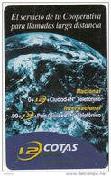 BOLIVIA - Earth, 12 Cotas Mundo, Cotas Telecard Bs. 6, 11/01, Used - Ruimtevaart