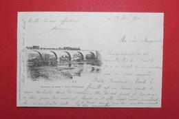 24371   CPA Environs De BRIEY  : Pont D' HOMECOURT !! Précurseur 1900 !! Train Sur Pont !! - Briey