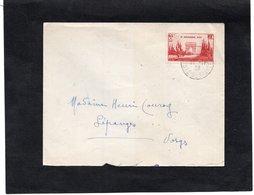 LSC 1938 - Cachet Poste Restante Sur YT 403 Seul Sur Lettre - Enveloppe Pour Lépanges - Postmark Collection (Covers)