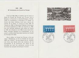 """Service                  """"  STRASBOURG 35éme Ann. Du Conseil De L' EUROPE """" Cachet Temporaire 5/5/ 1984 - Lettres & Documents"""