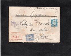 LSC 1929 - Recommandé Et Cachet LE BLANC (Indre) - Griffe Chargé Et 5 Cachets De Cire Au Dos - YT 181 & YT 237 - 1921-1960: Moderne