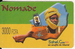 NIGER - Nomade By Sahel Com Prepaid Card 3000 FCFA, Exp.date 07/10/04, Used - Niger