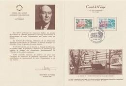 """Service                     """"  STRASBOURG Conseil De L' Europe 1ére émission """"   Cachet Temporaire  13 Nov 1982 - Lettres & Documents"""