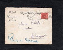 LSC 1930 - Entête SENAT - Commission Des Finances - Cachet PARIS 31 Chambre Des Députés - Enveloppe Pour DAVAYAT - 1921-1960: Periodo Moderno