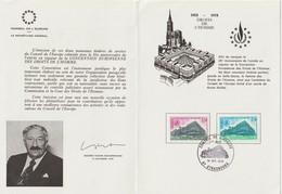"""Service                   """"  STRASBOURG Conseil De L' Europe 1er Jour D' émission """"     Cachet Temporaire 14 Oct  1978 - Lettres & Documents"""
