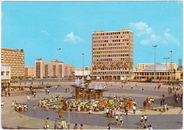 Mitte Berlin Alexanderplatz Kongreßhalle Und Haus Des Lehrers, Belebt 1976 - Mitte