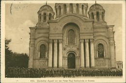 Kaunas Kowno (Коўна) Apell Vór Der Kathedrale 1916 - Lituanie