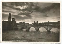 V3807 Verona - Ponte Di Pietra Sul Fiume Adige - Notturno Notte Nuit Night Nacht Noche / Viaggiata 1935 - Verona
