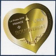 1670  St Valentin  - Coeur De Boucheron 100 Grs L. Verte Neuf  ** PRO 2019 + - Autoadesivi