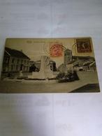 Belgique Cpa Baelen-nethe 1921 Het Marktplein Envoi En Argentina Bonne Condition Comme Scans Avec Timbres Et Cancelation - Baelen