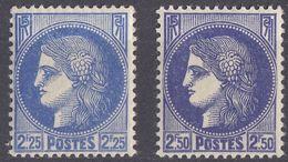 FRANCIA - FRANCE - 1940 - Lotto Comprendente 2 Valori Nuovi MH: Yvert374 E 375. - Nuovi