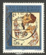 AUSTRIA. 1990. 5S EGON SCHIELE. USED - 1945-.... 2nd Republic