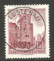 AUSTRIA. 1.50S BUILINGS. WIEN USED LUSTENAU POSTMARK - 1961-70 Usados