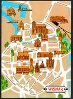 D3467 - Wismar Stadtplan Stadtkarte - Scheuner - Verlag Bild Und Heimat Reichenbach - Wismar