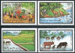 158- Laos 1993  YT 1112-15 ; Mi# 1374-77 **  MNH  Protection De L'environnement. - Laos