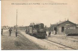 ENVIRONS DE BRUZ. PONT PEAN. La Gare Du Tramway Et La Grande Route De Rennes. - France
