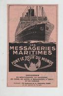Les Messageries Maritimes Font Le Tour Du Monde Croisières Méditerranée Indochine Chine Japon Tahiti Océanie Madagascar - Werbung