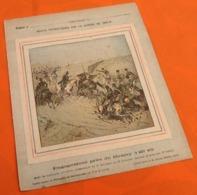 Ancien Protège-cahier Illustré Récits Patriotiques Sur La Guerre De 1870-71 Engagement Près De Boulay (9 Août 1870) N° 2 - Protège-cahiers
