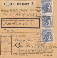 BiZone Paketkarte 1948: Berlin-Steglitz Nach Haar, Amerikanische Zone - American,British And Russian Zone