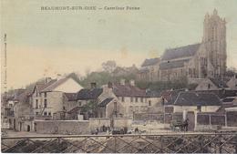BEAUMONT  SUR OISE  CARREFOUR PERINE   CPA COLORISEE  CIRCULEE - Beaumont Sur Oise