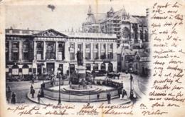 51 - Marne - REIMS - Place Royale- 1901 - Echafaudage Sur La Cathedrale - Reims