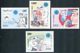 140- Laos 1992  YT 1037-40 ; Mi# 1302-05 **  MNH Journée Mondiale De La Santé - Laos