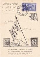 Tematica Filatelia Cagliari 2-3-1952 3 Mostra Filatelica Sarda - Esposizioni Filateliche