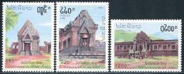 142- Laos 1992  YT 1055-57 ; Mi# 1316-18 **  MNH  Restauration Du Wat Phou - Laos