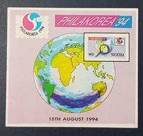 NIGERIA 1994 SHEET BLOC BLOCK - PHILAKOREA PHILA KOREA  -  RARE MNH - Nigeria (1961-...)