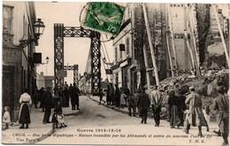 Creil 1916 - Nouveau Pont De Fer & Maison Détruite - Guerre 1914 - édit. TMK - Creil